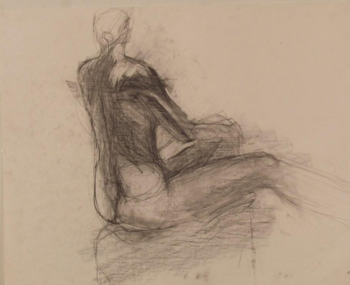 back-view-graphite-on-paper-23x28-b